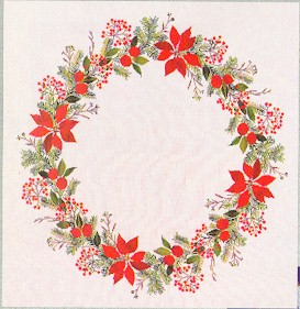 Poinsettia Tabletopper by Eva Rosenstand