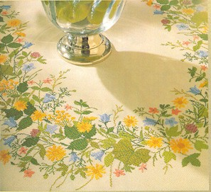 Summer floral tablecloth by Eva Rosenstand