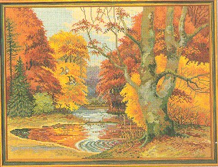 Fall landscape by Eva Rosenstand