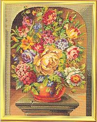 Bouquet On Pedestal by Eva Rosenstand