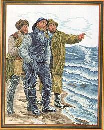 Three Fishermen by Eva Rosenstand