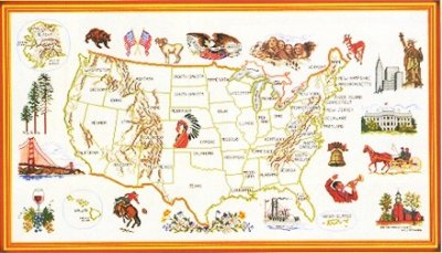 USA map by Eva Rosenstand