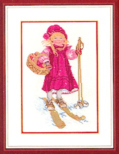 Girl skiing by Eva Rosenstand
