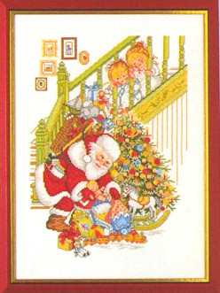 Santa Claus with Children by Eva Rosenstand