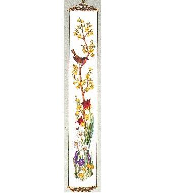 Robin & Flowers Bellpull by Eva Rosenstand