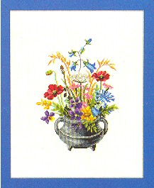 Flowers in a kettle by Eva Rosenstand