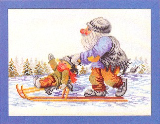 Eva Rosenstand Gnome on sled