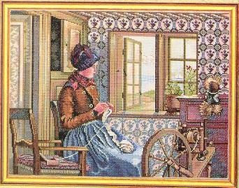 Knitter by Eva Rosenstand