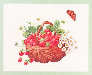 Strawberry Fruit Basket by Eva Rosenstand