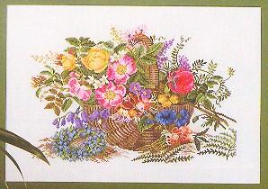 Floral basket by Eva Rosenstand