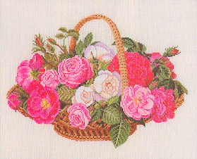 Roses in a basket by Eva Rosenstand