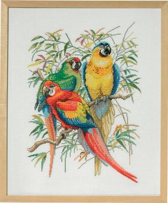 Parrot trio by Permin