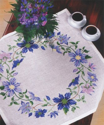 Eva Rosenstand Blue Clematis tablecloth