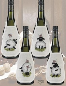 Sheep bottle aprons by Permin
