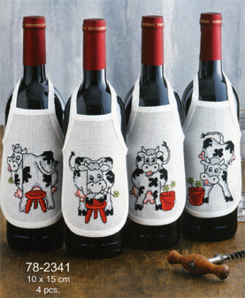Cow bottle aprons by Permin