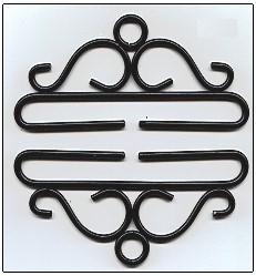 Wrought iron bellpull,80525, 10