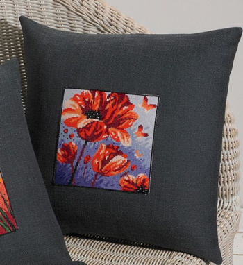 Poppies pillow by Permin
