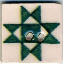 Green Ohio Star,87003,Jim Shore buttons