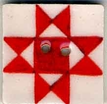 Red Ohio Star-87005-Jim Shore buttons