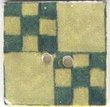 Avocado Nine Patch-87007-Jim Shore buttons