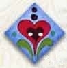 Red Heart on Blue-87011-Jim Shore Buttons