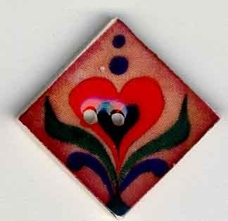 Red Heart on Terracotta-87012-Jim Shore buttons