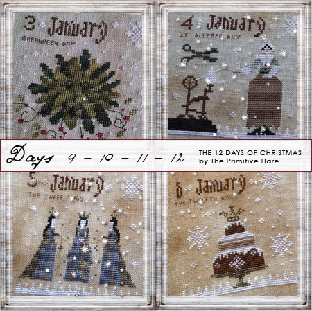 12 Days of Christmas (Days 9-12) by The Primitive Hare