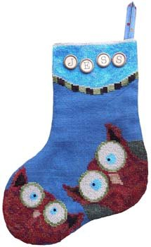 Whooo Owl Stocking by Samsarah Design Studio