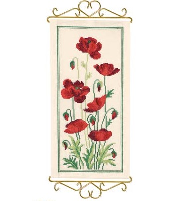 Poppies bellpull by Permin