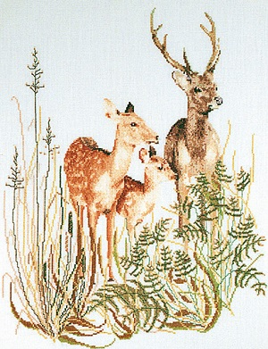Deer with Fawn by Thea Gouverneur