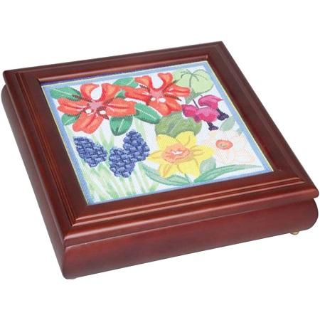 Sudberry House Mahogany Carol's Fancywork Box 9.5X9.5X2.75, 99021