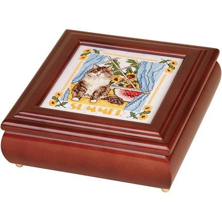 Sudberry House Mahogany Betsy Square Box 8X8X2.75,99521