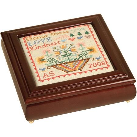 Sudberry House Mahogany Laura's Square Box 8X8X2.75,99531