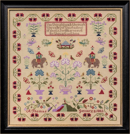 Hands Across the Sea Samplers A Thomas 1882 - The Nellies