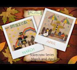 A Year with the Scarecrows - March & April MDD-SCMA by Mani di Donna