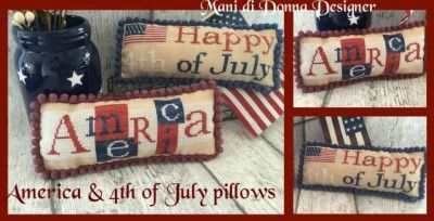 America & 4thof  July Pillows MDD-AA4OJP by Mani di Donna