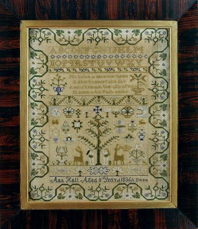Giulia Punti Antichi Ann Hull 1836 reproduction sampler