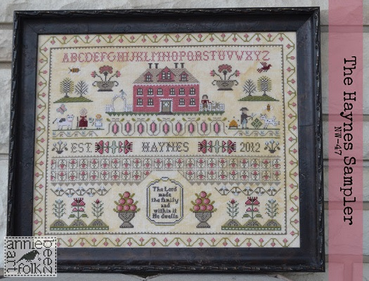 NW 47 The Haynes Sampler by Annie Beez Folk Art