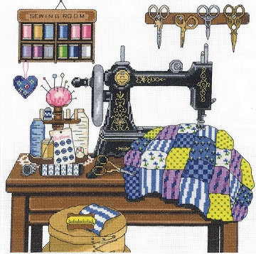 Antique Sewing Room by Janlynn