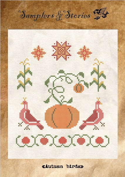 Autumn birds by Samplers & Stories