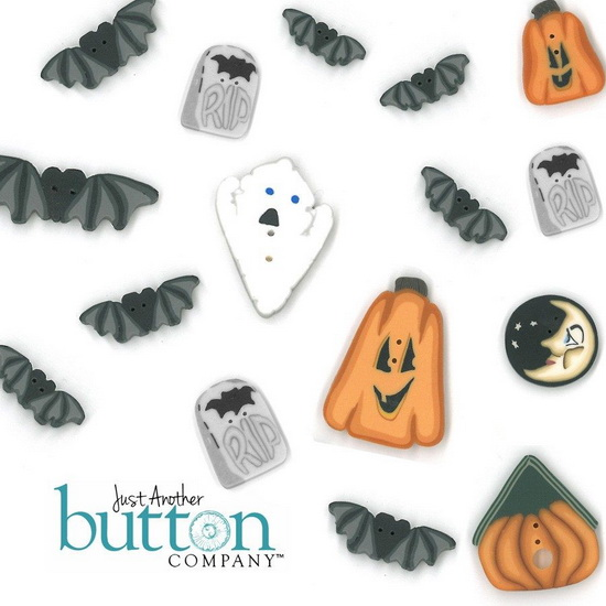BUTTON PACK - BLACK CAT MANOR - Praiseworthy Stitches