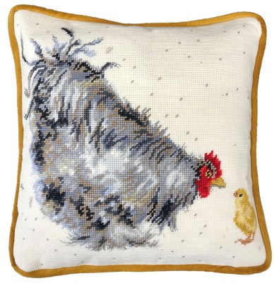 Bothy Threads BTTHD50 Mother Hen Tapestry - Hannah Dale Tapestry Cushion