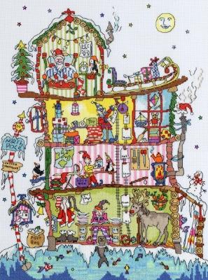 Bothy Threads BTXCT17 North Pole House - Amanda Loverseed - Cut Thru'