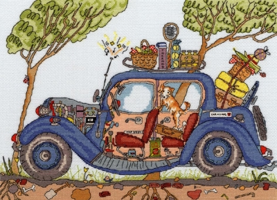 Bothy Threads BTXCT20 Vintage Car - Amanda Loverseed - Cut Thru'
