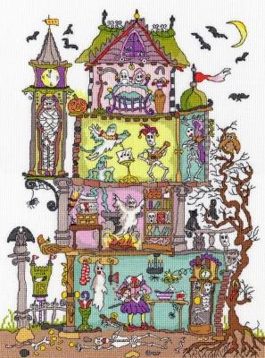 Bothy Threads BTXCT25 Haunted House - Amanda Loverseed - Cut Thru'