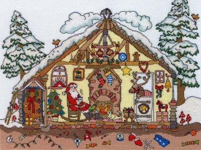 Bothy Threads BTXCT32 Christmas Bothy - Amanda Loverseed - Cut Thru'
