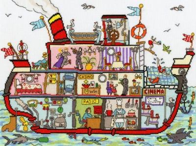 Bothy Threads BTXCT35 Cruise Ship - Amanda Loverseed - Cut Thru'