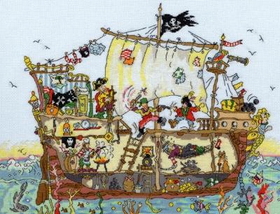 Bothy Threads BTXCT7 Pirate Ship - Amanda Loverseed - Cut Thru'