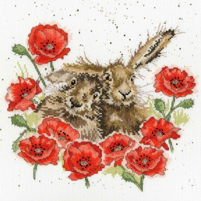 Bothy Threads BTXHD61 Love is in the Hare  Hannah Dale Collection