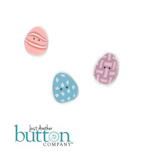 BUTTON PACK - BUNNY EGGS - Praiseworthy Stitches